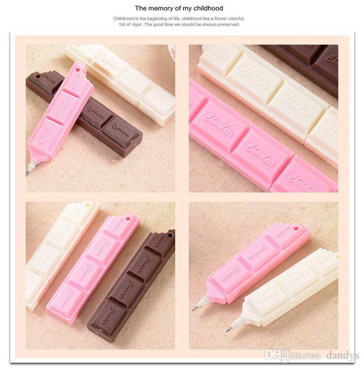 Bolígrafo creativo de chocolate Bolígrafo creativo / lindo regalo para niños / Cadena de teléfono móvil / Envío gratis