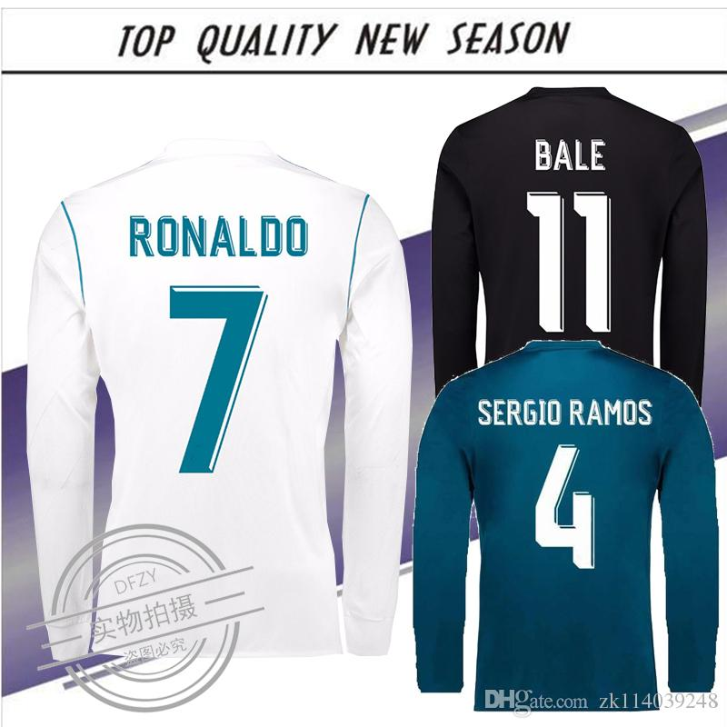 2019 2017 2018 Real Madrid Long Sleeve RONALDO ASENSIO ISCO Soccer Jerseys  17 18 Away Black Third MODRIC KROOS RAMOS Football Shirts From Zk114039248 9defd50bf