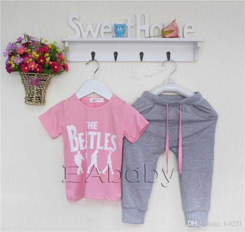 Fashion Letter baby clothes cool beatles Boutique Clothing toddler clothing boys girls tracksuit outfit