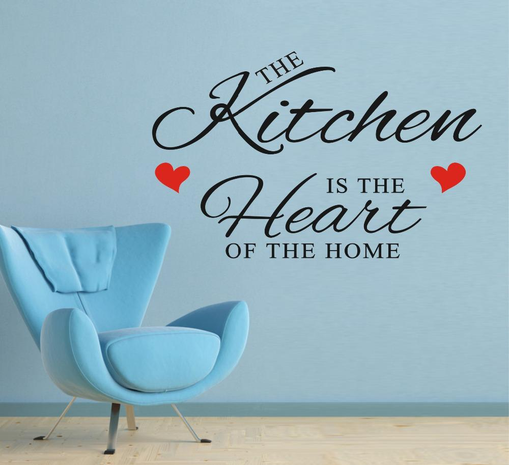 Hot Sale! Our Kitchen Wall Stickers Quote Vinyl Art Wall Sticker ...