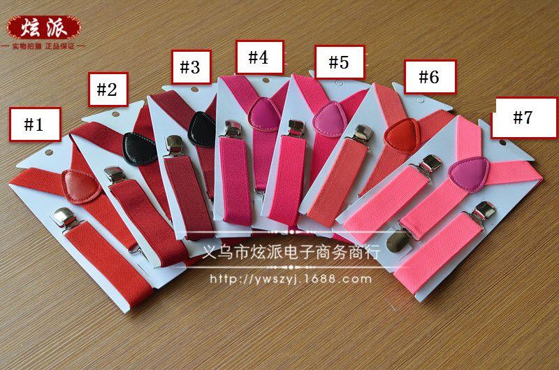 Nouveau Enfants Enfants Garçon Filles Clip-on Y Retour Élastique Bretelles Réglable Bretelles Cadeau de Noël en couleur