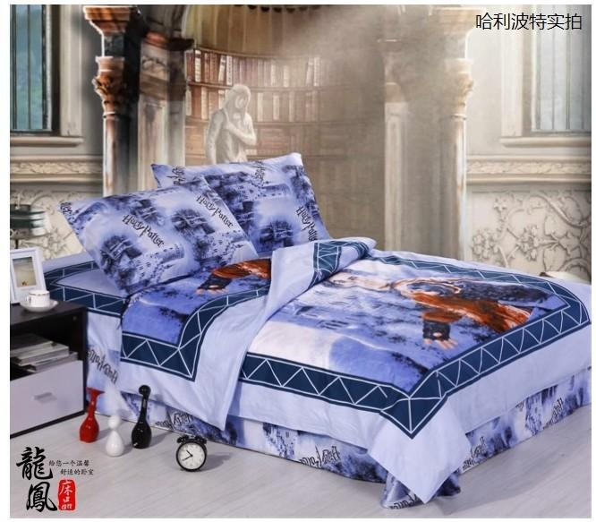 Harry Potter Kids Bedding Set Twin Full Queen Size Cartoon Quilt