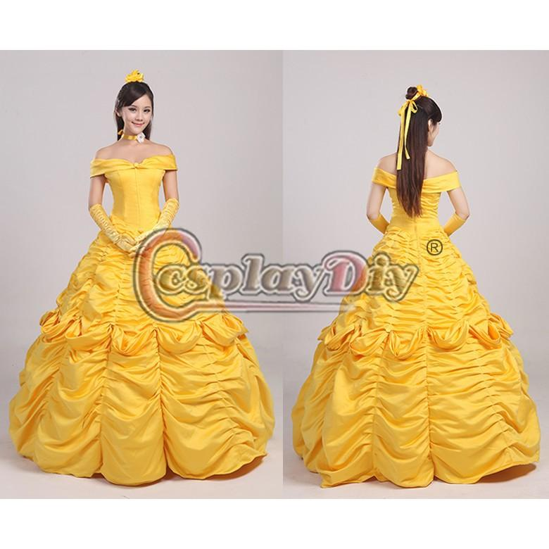 Custom Made Deluxe Belle Princess Dress from Beauty and the Beast Movie Cosplay  Costume 6cacd7917a65