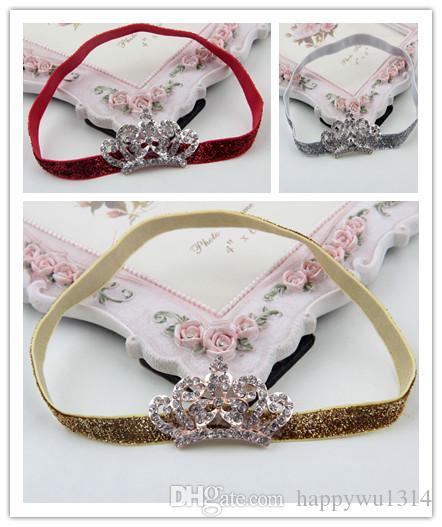 32358ce2e17 Infant Rhinestone Hair Band Fashion Crown Headbands for Girls ...