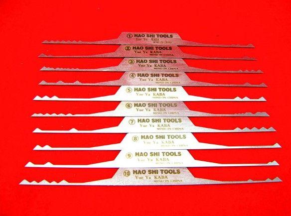 Haoshi Refined semicircle lock hook 10 brush sets ,LOCKSMITH TOOLS,pick gun.steel safe lock opener