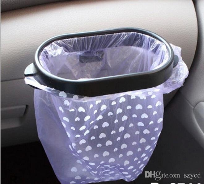 best new creative mini portable plastic folding hanging garbage bags rack car auto trash bag rack black car storage bag holder pl 034 under 176 dhgate - Trash Bag Holder