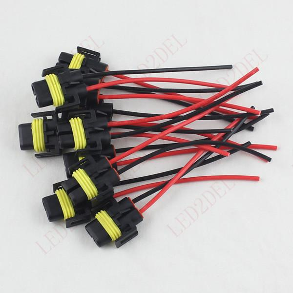 h11 h8 female adapter wiring harness socket wire connector Denso Alternator Plug  Cigarette Lighter Power Plug Repair Wiring Harness Plug Wiring Harness Plug Crimping Tool