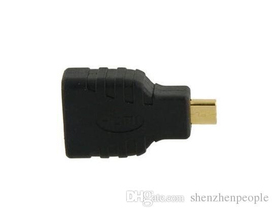 100 TEILE / LOS Neue HDMI Buchse auf Micro HDMI Stecker Adapter Stecker HD TV DVD Schwarz