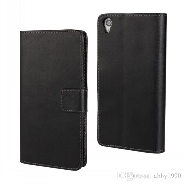 Wholesale New Arrive PU Leather Wallet Flip Cover Case for Sony Xperia Z3 L55t with Folding Function