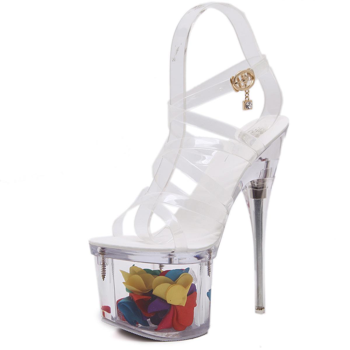 Strass Chaussures Sandales Haut Corss Talon De 34 Bracelet Argent Club Party Mariage Stiletto Peep Toe Plateforme Taille 40 18cm Sexy 0vnwONm8