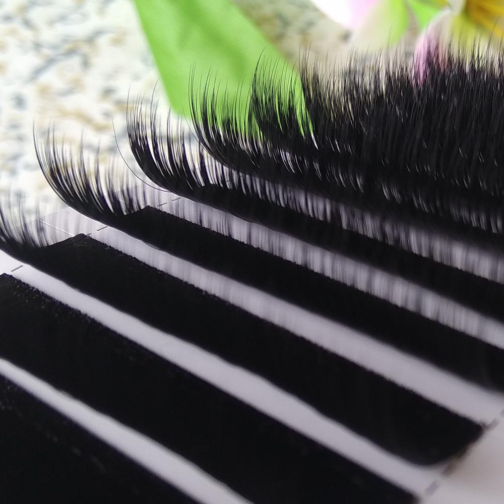 Extensiones de pestañas de volumen real Ventiladores mixtos Pestañas pestañas 3D-6D 12 filas / bandeja 0.07 ventiladores de volumen Fábrica de Youcoolash Big Promotion