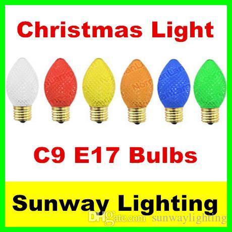 Ersatzlampen Weihnachtsbeleuchtung.C9 Weihnachtsbeleuchtung Facettierten Led 25 Ersatzlampen E17 Basis 0 5 Watt Muti Farbe Weihnachten Glühbirnen Rote Farbe Zeigen Licht 120 V
