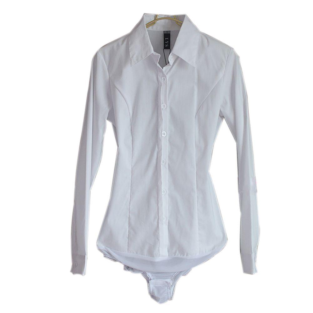 2019 New Arrivals Women Body Blouse Shirt White Long Sleeve Blusas