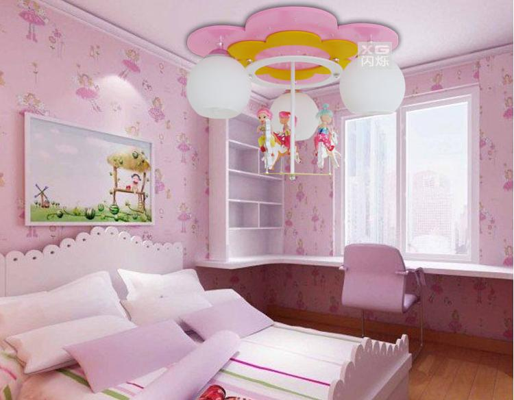 Online Cheap Carousel Led Lamp Cartoon Girl Room Chandelier Children  Childrenu0027S Bedroom Childrenu0027S Room Ceiling With Lighting Lamps By Andylover  | Dhgate.
