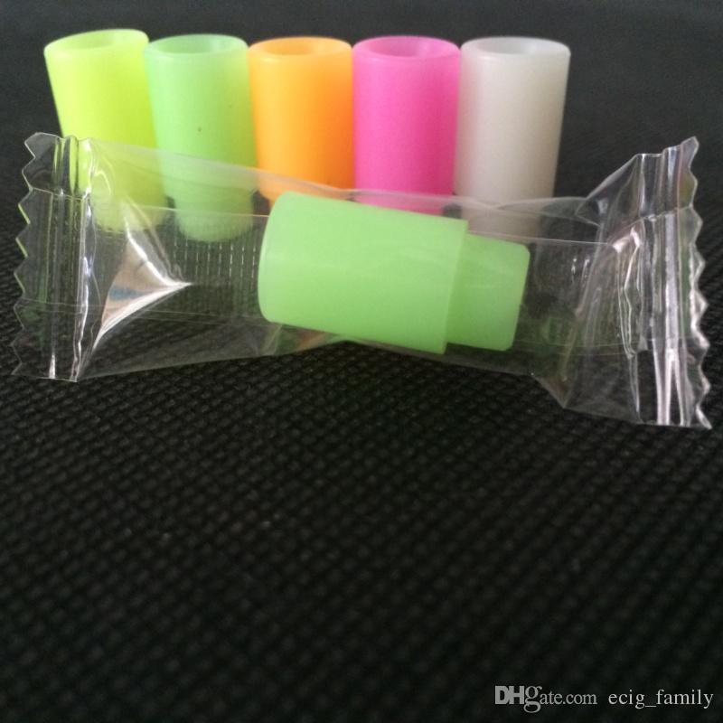 $ 9.9 실리콘 마우스 피스 캡 실리콘 드립 팁 일회용 다채로운 고무 테스트 팁 모자 kanger subox mini subtank plus Subtank Mini