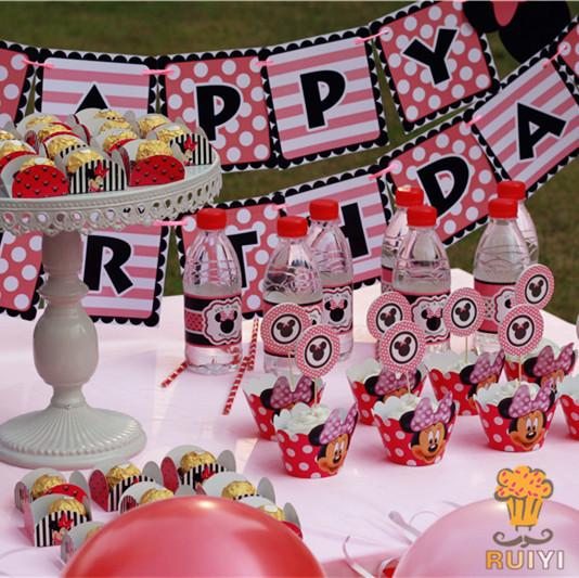 2018 Luxury Kids Birthday Decoration Set Minnie Mouse Theme Party