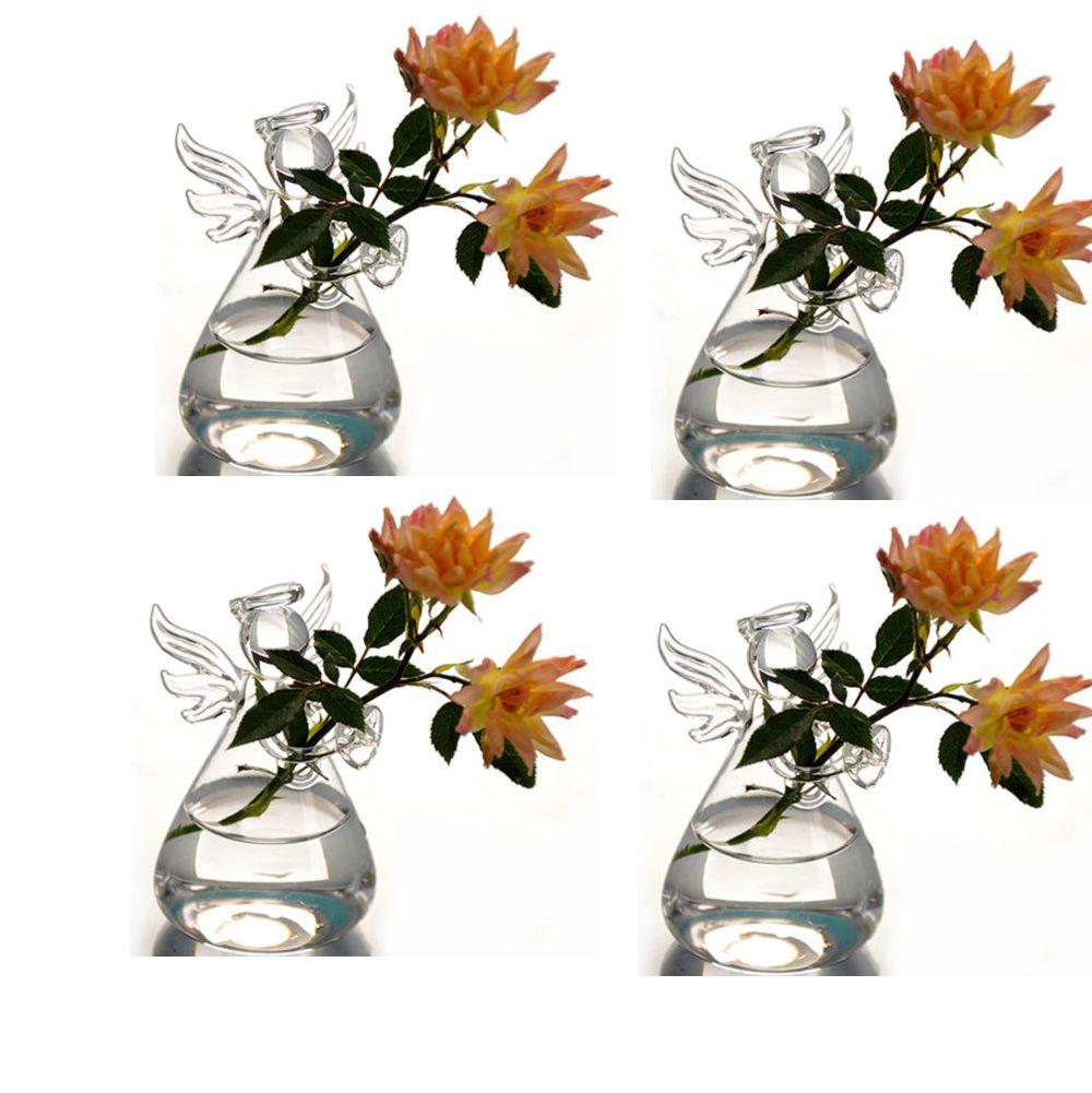 New Hanging Glass Air Plant Flower Vase Angle Shape Terrarium Flat ...