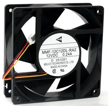 MITSUBISHI 120MM MMF-12C12DL-RA2 12V 0.24A HP 파라미터 분석기 팬, 인버터 팬, 냉각 팬