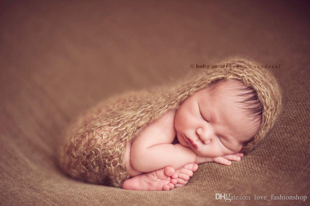 5 Farben Baby handgemachte Wolle stricken Schlafsäcke Säugling Neugeborenen häkeln Schlafsack Nachtwäsche Schlafsäcke Geburtstagsgeschenk Kinder Kleidung
