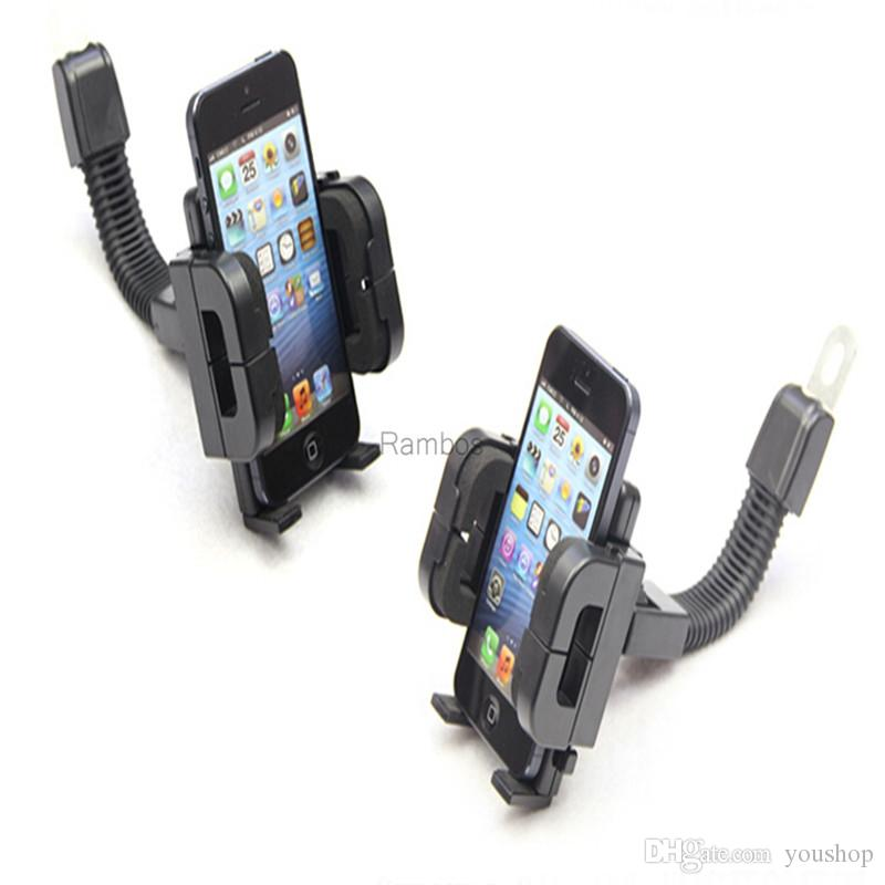 Motorcycle Bike Bicycle Bar Mount Mobile Phone Holder Stands Cradle for iphone 5s / 6 / 6 / 6s plus for Samsung GPS PAD