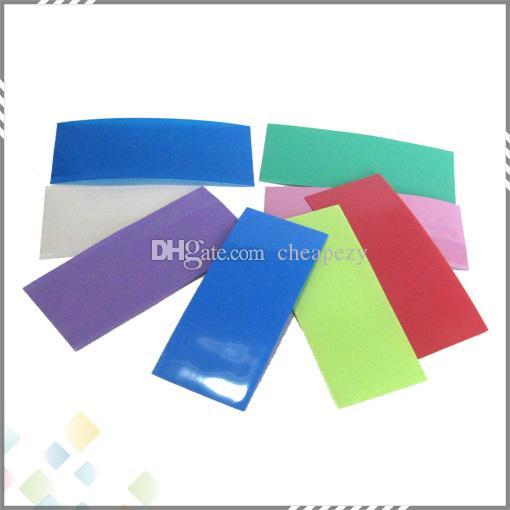 18650 gaine de batterie PVC gaine thermorétractable 72 * 30 * 0.08mm Coloré fit 18650 batterie haute qualité DHL gratuit