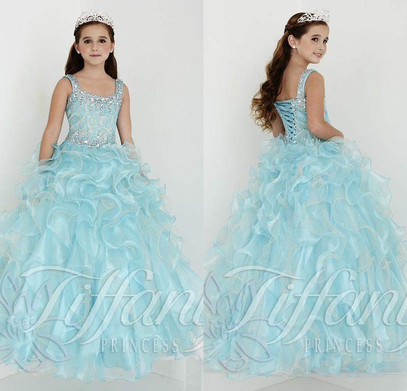 Most Beautiful Prom Dresses Ball Gown: 2015 Most Beautiful Square A Line Ball Gowns Organza