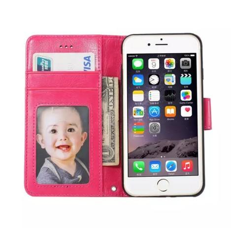 High Quality Purse Photo Frame For Iphone 6S Plus Case Flip Wallet Slim Cover Colorful Leather Case For Apple Iphone 6S Plus