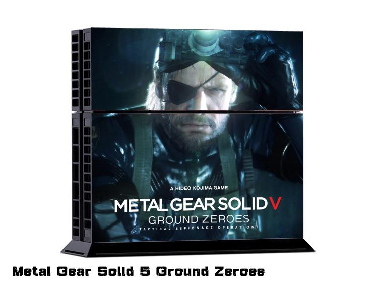 Metal Gear Solid 5 Ground Zeroes DECAL SKIN PROTECTIVE STICKER for SONY PS4 CONSOLE CONTROLLER