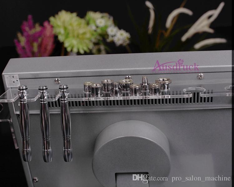 Envío rápido Diamante Microdermabrasión Facial Ultrasonido Ultrasonido Scrubber Dermabrasion Peeling Machine