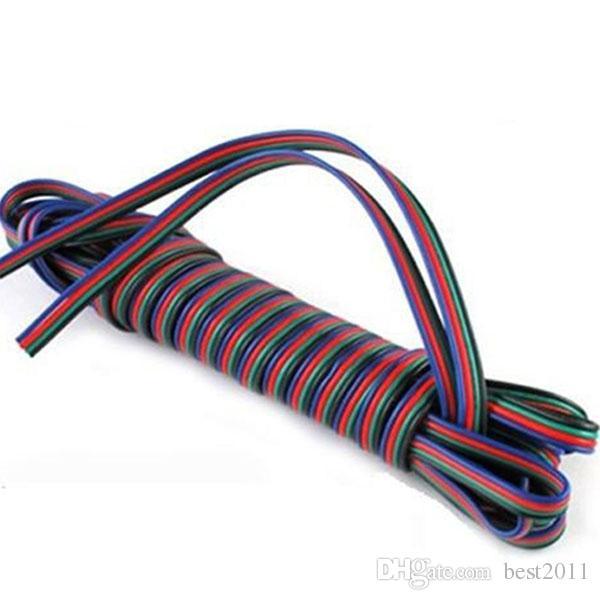 100 m 4 pins led RGB kabel draad verlengsnoer LED-verlengkabel voor 5050/3528 LED RGB lichtstrip