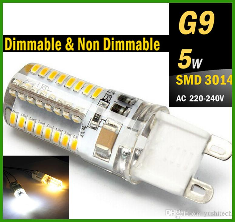 G9 LED 5W Dimmable & Non Dimmable Bulb 110V 220V 240V G9 E14 Base Candle Mini Corn Droplight Replace 40W Halogen Lamp 5W SMD 3014 led