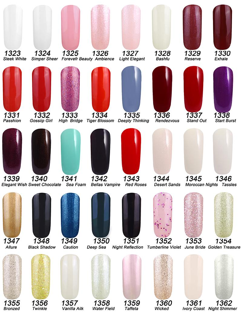 2015 new arrival gelish polish soak off uv gel nail polish for Popular colors 2016