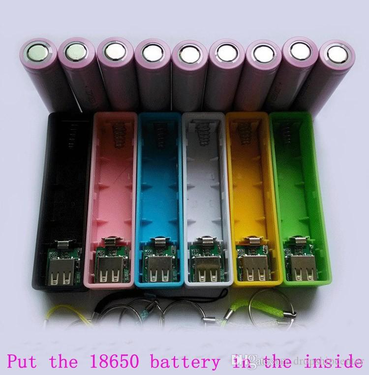 1 18650 2600mah Power Bank Case Battery Charger Cases Pcb Sling Perfume Cards Weldless Kit