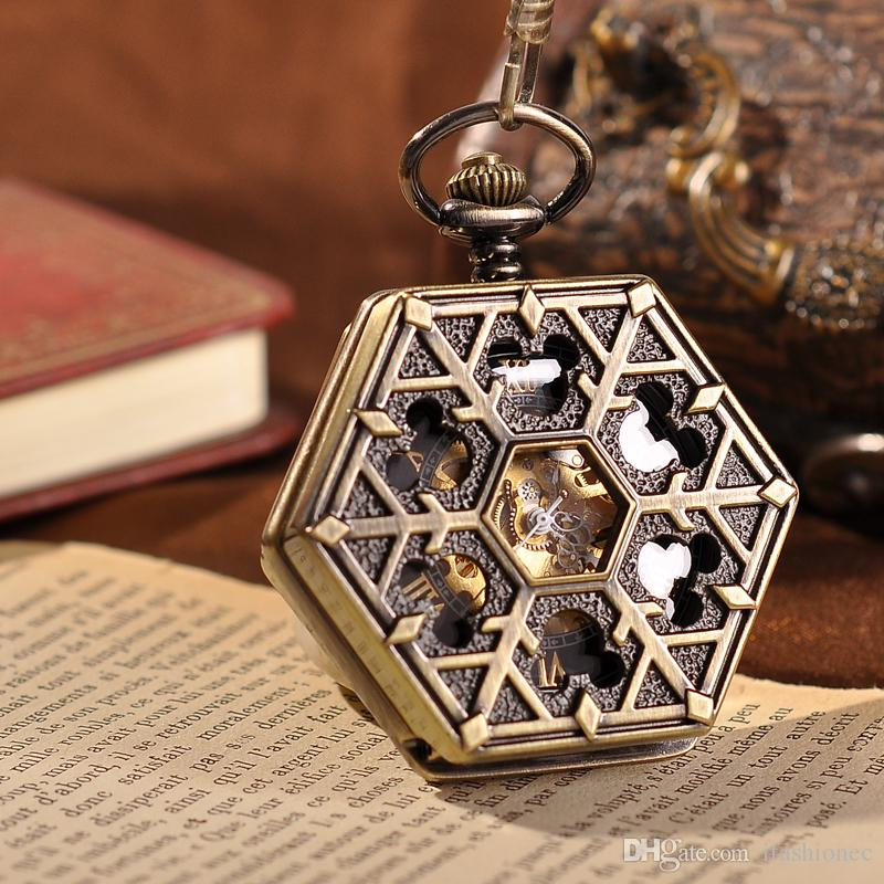 Steampunk pocket watch  Steampunk Pocket Watch 2015 New Design Men Watch Luxury Brand ...