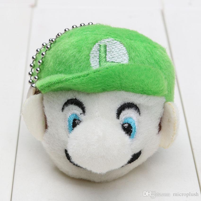 Super Mario Bros Game Mario Luigi soft Plush Keychain Pendant Plush Doll Cartoon Toy 6cm
