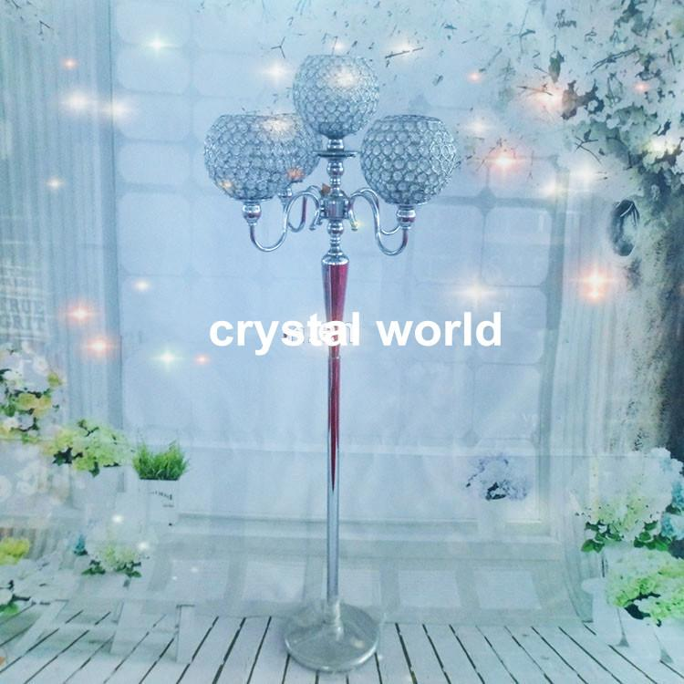 Elegant Wholesale Cheap Tall Crystal Glass Candelabra Crystal Candle