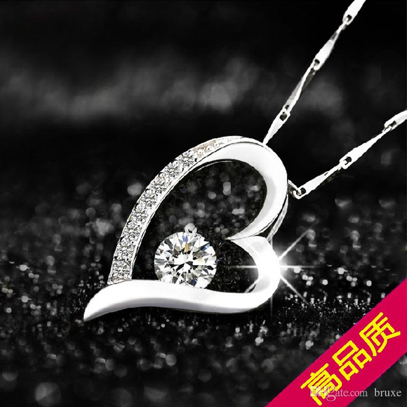 Factory direct 925 silver pendants wholesale everlasting love heart factory direct 925 silver pendants wholesale everlasting love heart necklace explosion models selling promotional valentines day to send hi online with aloadofball Images