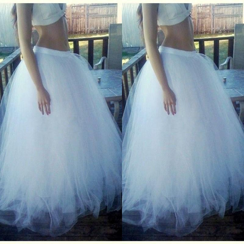 2015 Floor Length Long Skirts Hot Selling Puffy Tulle Custom Made Tutu Skirts for Gilrs Fashion Women Clothing Floor Length Cheap