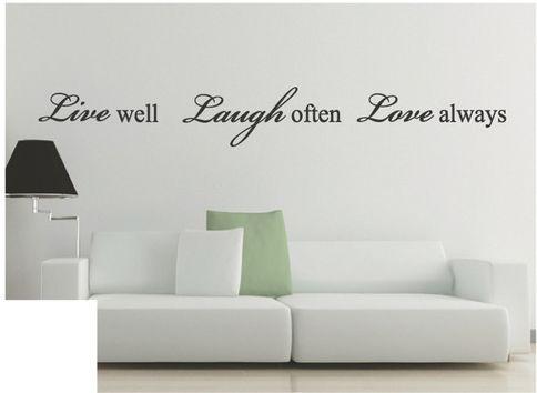 Inspiration Englische Wrter Wand Anfhrungsstrich Abziehbild Aufkleber Fashion Home Kunst Wanddekor