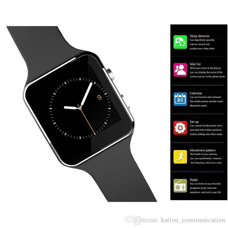 X6 Bluetooth Smart Watch with SIM Card Android Wrisbrand for Android Samsung and IOS Apple iphone Smartphone Bracelet Smartwatch