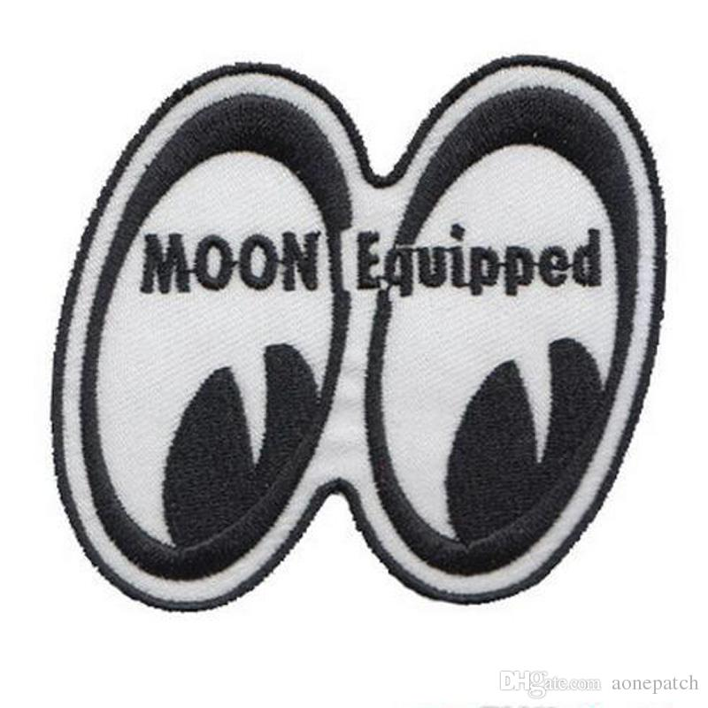 felt shapes moon equipped eyes embroidery nasa patch good quality iron on hot cut to any country patch
