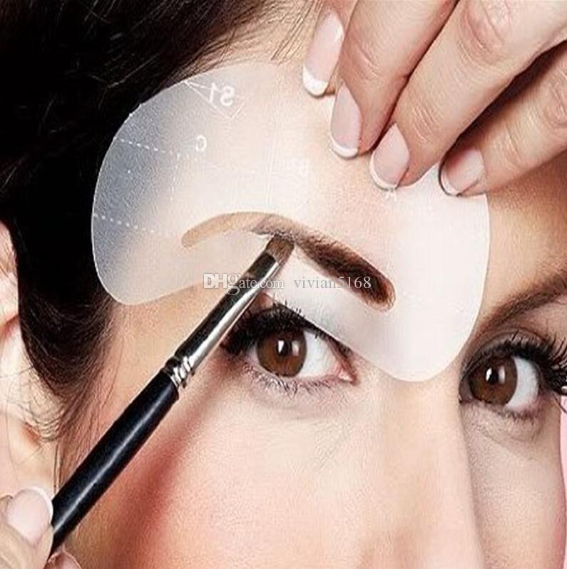 Брови трафареты 24 стили DIY шаблон макияж инструменты красоты бровей многоразовые бровей рисунок руководство стили холить трафарет комплект 1 компл.=24 шт.