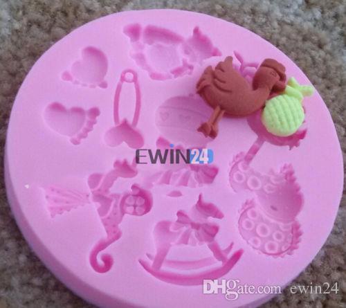 Детские силиконовые формы для помадной торт шоколад желе мороженое украшения торт гусиные ноги плесень новый