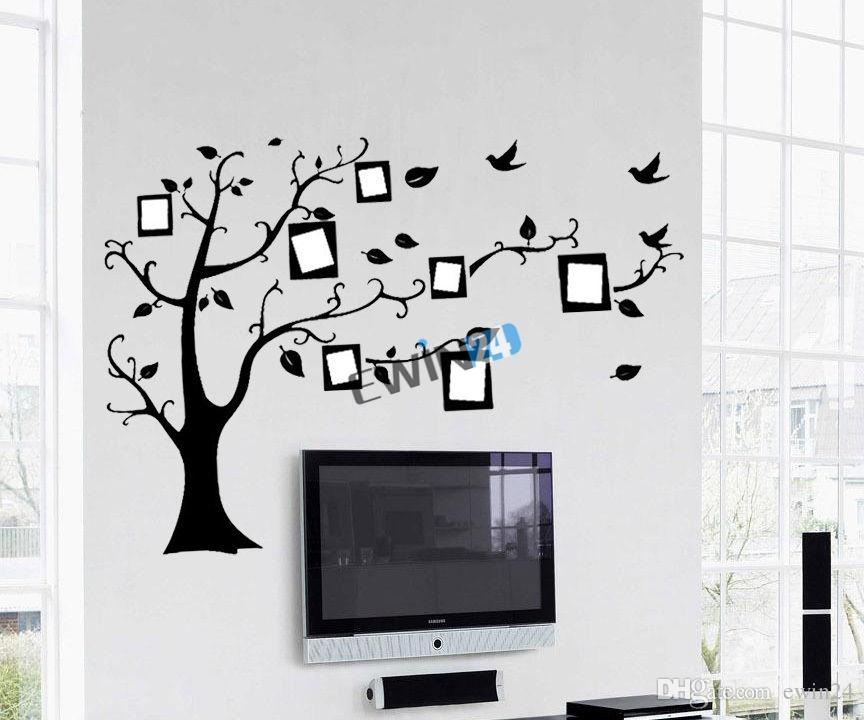 New Memory Family Tree Photo Frame Wall Stickers Wall Art Wall Decals Office  Home Fashion 5sets
