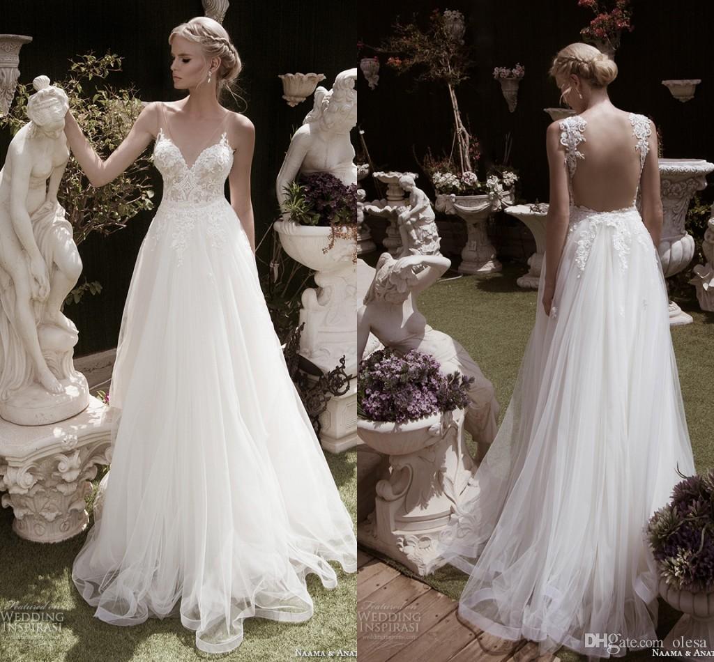 Most Beautiful Short Wedding Dresses: Discount Naama Anat Fall 2016 Bridal Dresses Beautiful A