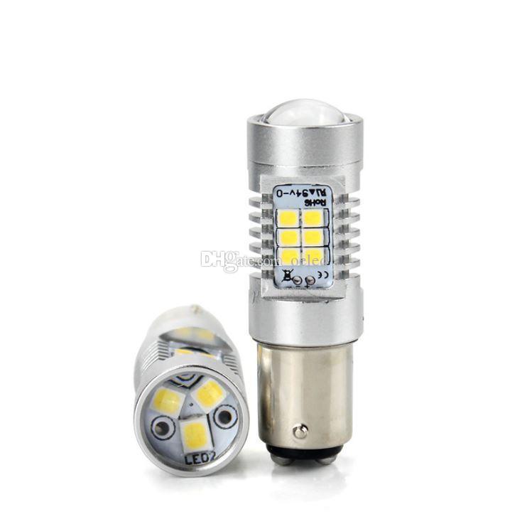 21W Hight Bright 1156 BAU15S BA15S 2835 SMD 21 LED Auto Auto lampadina di retromarcia Turn Lampada fendinebbia Freno Indicatore di direzione Lampadina DC 12V