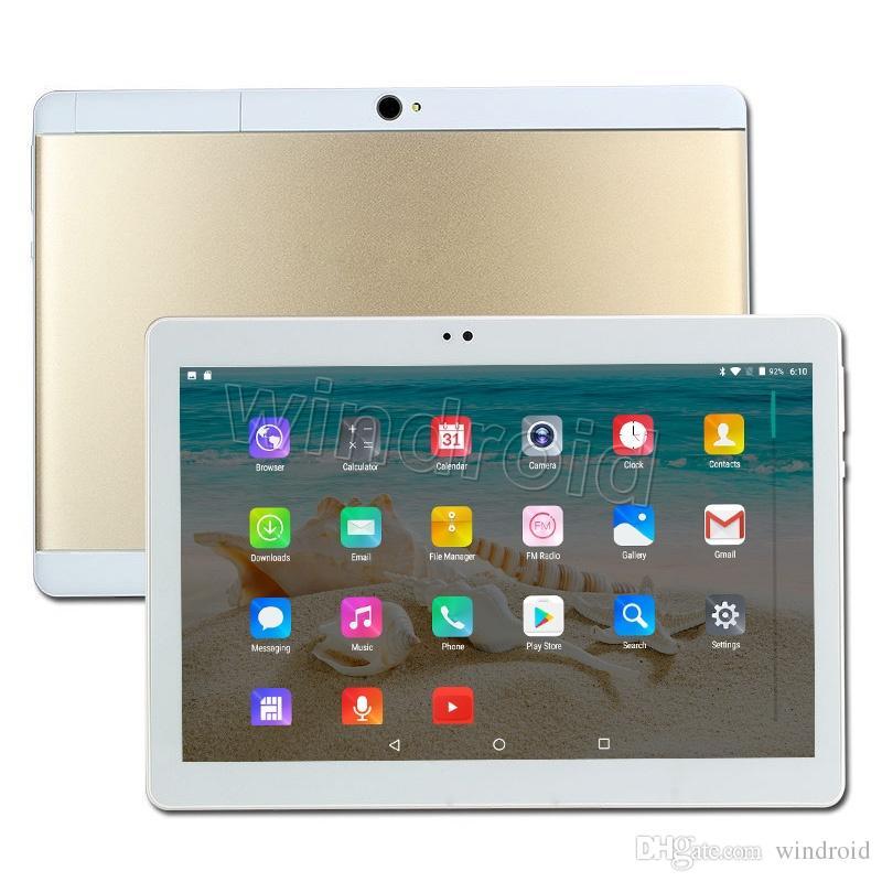 10 10.1 pulgadas MTK6582 Quad Core 3G Android 5.1 Teléfono Tablet PC 1GB RAM 16GB ROM Bluetooth GPS IPS 1280 * 800 WiFi Phablet Dual SIM desbloqueado 10
