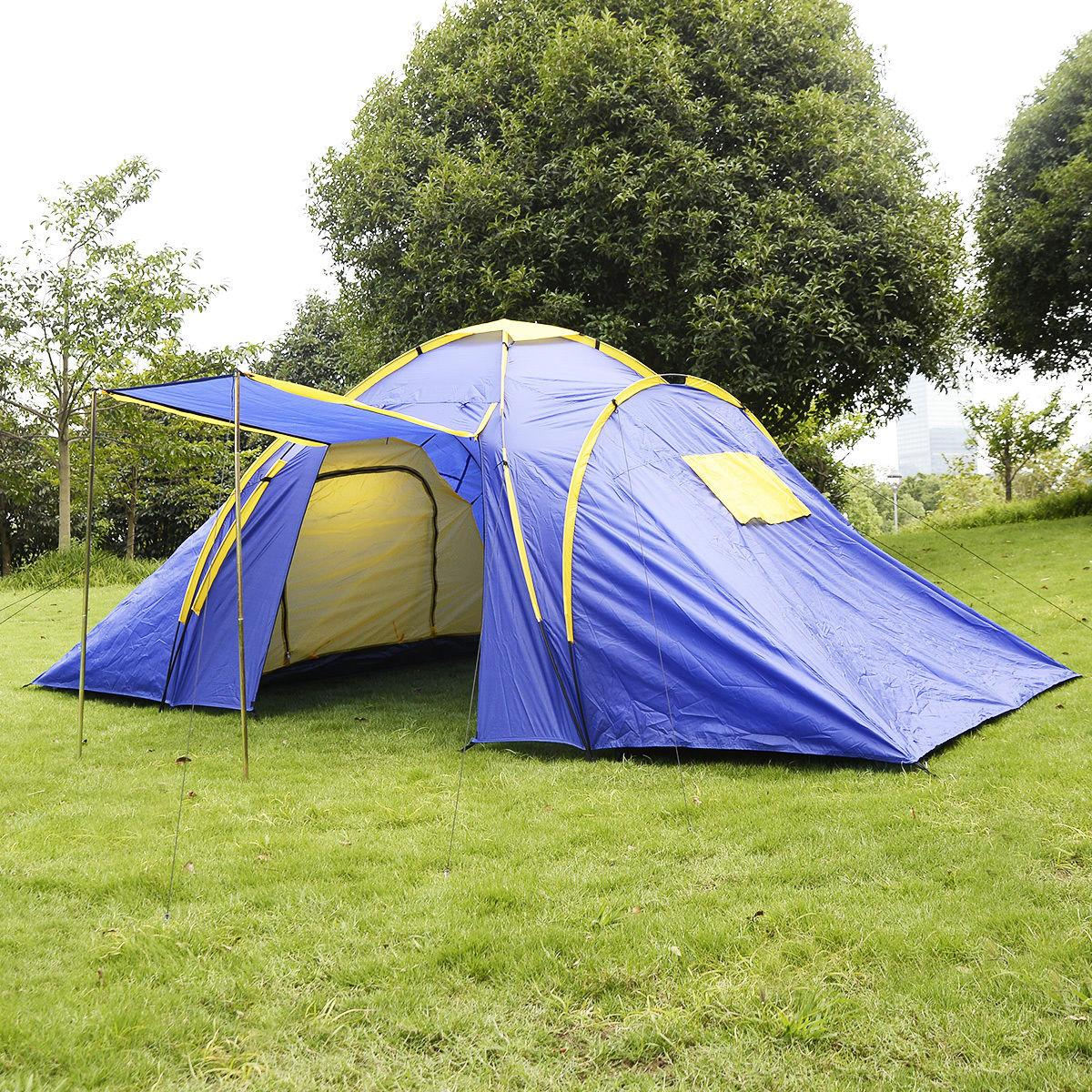 GOPLUS 4-5 Person / Waterproof Camp 2 + 1 Room Hiking Camping Tenda familiare
