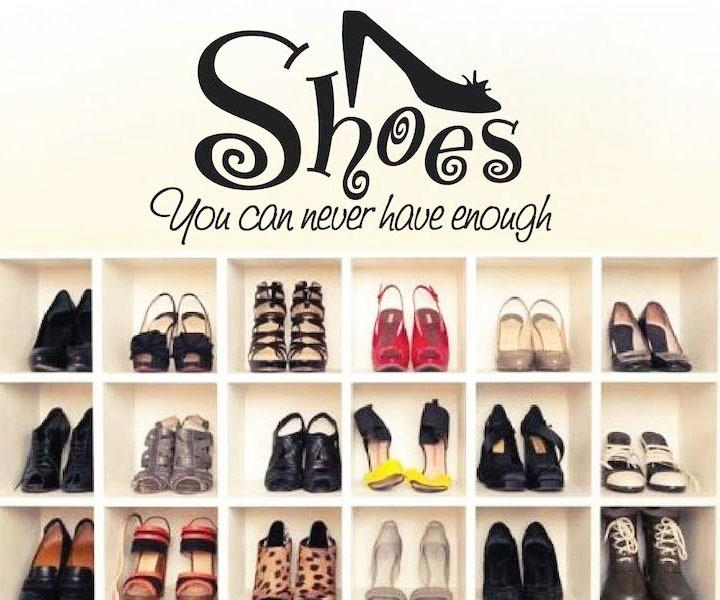You Can Never Have Enough Shoes Wall Art Stickers Large ...