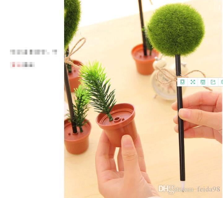 النباتات الخضراء الكرة نقطة القلم الجدة كبسولة ballpen القرطاسية الإبداعية هدايا الأطفال مكتب اللوازم المدرسية G1222
